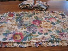 3 Vintage Croscil Floral Ruffle Sham Set - 2 KING - 1 Standard Size