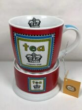 """Tea Cup And Warmer Red """"Queenie"""" Cha Cult Fine Porcelain Boxed"""