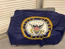 "Us Navy Military Usa Fleece Blanket New 50""x60"" Zipper Bag"