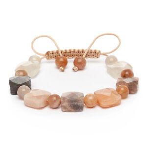 Shamballa Gemstone Bracelet Moonstone Hand Made UK Cancer Libra Scorpio