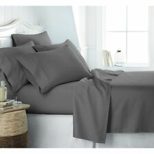 Egyptian Luxury 1800 Hotel Collection Bed Sheet Set, Queen Gray