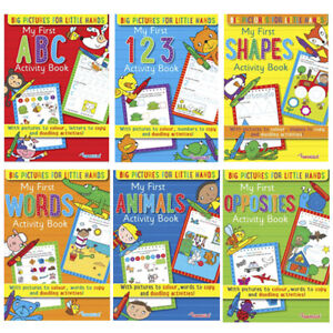 Learning Books Pre School Reception Age 3-5 Learning Book ABC 123 Shapes Kids