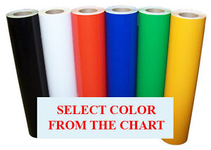 """5rolls pack 12""""x10ft Craft Adhesive Sign Vinyl for decals,sticker,Cameo,47colors"""