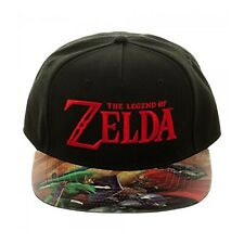 Zelda Printed Flat Bill Adjustable Hat NEW IN STOCK