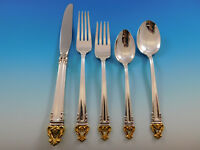 Golden Crown by Reed & Barton Silverplate Flatware Set for 12 Service 68 pcs