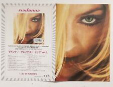 MADONNA Japanese Card Flyer Greatest Hits