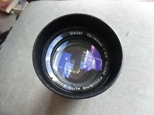 Camera Vivitar 70-150mm Lens 1:38 Close Focusing Auto Zoom 52mm
