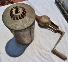 Vtg Arctic by White Mountain 3 Qt Hand Crank, Canister & Dasher, pre 1923 Model