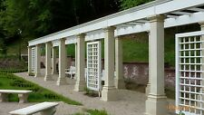5x 263cm Quadratische Säule Toskana Säulen Steinsäulen Gartensäule BLACKFORM