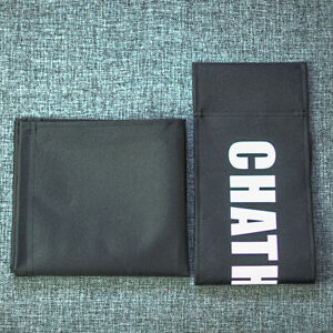 Personalized Black Cover Set for Makeup Artist and Directors Chair
