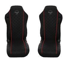 MAN TGA , TGL , TGM , TGS , TGX Truck Seat Covers 2 pieces WITH RED PIPING
