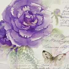 """Decoupage Craft Paper Luncheon Napkins 40pcs 13""""x13"""" Miracle Rose with Butterfly"""
