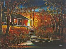 "Dawns Early Light Cabin Lake  Print by Jim Hansel  16"" x 12"""
