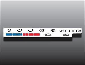 1992-1998 Geo Tracker White Heater Control Switch Overlay HVAC