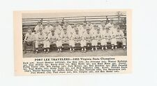 Fort Lee Travelers Va Pittsford Athletics 1953 Baseball Chet Nichols Harry Chiti