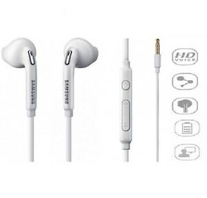 SAMSUNG GALAXY S6 EDGE S7 EDGE EARPHONES HEADPHONES HANDSFREE WHITE