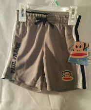 Boys Shorts Workout 18M Paul Frank Kid Childrens Clothes Gray White Black Monkey