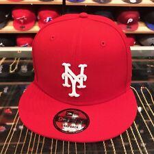 New Era New York Mets Snapback Hat Cap All Red/White
