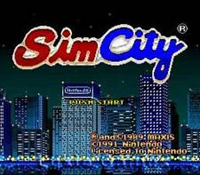 Simcity - SNES Super Nintendo Game Sim City