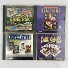 Lot Of 4 Vintage Pc Cd Rom Classic Card Casino Golf Solitaire Computer Games