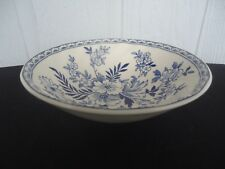 johnson bros brothers devon cottage cereal dessert bowl blue & white
