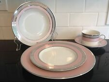 Beautiful Ralph Lauren Pink Silk Ribbon 5-Piece Placesetting