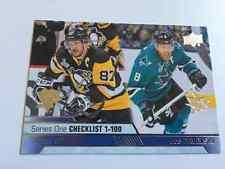 2016-17 UD Series 1 Sidney Crosby / Joe Pavelski Checklist San Jose Sharks
