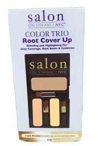 Salon on 5th Ave NYC light blond root cover up color trio powder