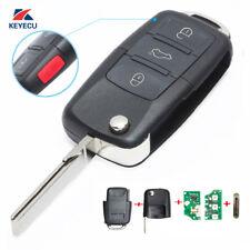 Flip Remote Key Fob Transmitter 1J0 959 753 T for VW Volkswagen 3+1B 315Mhz ID48