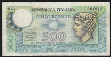 1974 500 Lire Italy Old Vintage Paper Money Banknote Currency Bill Note VF