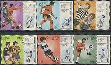 "LAOS N°897/902** Football ""Italia 90"" , 1989 Soccer world cup Sc#902-907 MNH"