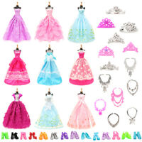 Barwa Random 10 sets of big skirt + random 5 shoes + random 6 crown + 6 necklace