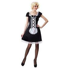 NEW FRENCH MAID SEXY FANTASY PLAY  Halloween COSTUME Women OSFM