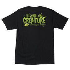 Creature Burlesque Buffet Skateboard T Shirt Black Xl