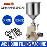 A02 Pneumatic Liquid Paste Filling Machine 5~50ml Shampoo Equipment Bottling