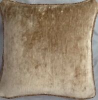 A 16 Inch cushion cover in Laura Ashley Caitlyn Biscuit Velvet Fabric
