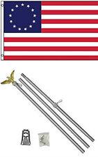 3x5 Betsy Ross Bandera con / 1.8m M ALUMINIO ASTA ASTA DE BANDERA KIT Eagle