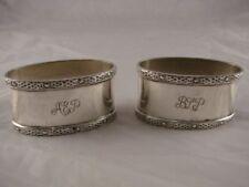 Decor Antique Solid Silver Napkin Napkin Rings/Clips