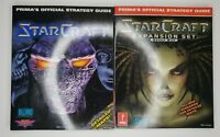 STRATEGY GUIDE LOT ~ Blizzard Starcraft + Brood War Official Prima