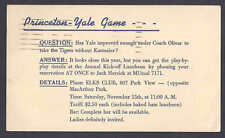 1952 PRINCETON-YALE GAME A FORUM AT ELKS CLUB ON YALE COACH, LOS ANGELES CA