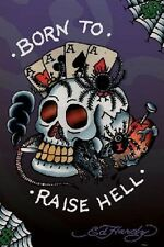 Ed Hardy Born to Raise Hell Poster Print 24x36 PA31564