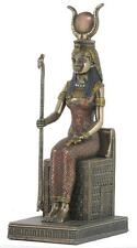 Veronese Bronze Figurine Egyptian Goddess Isis Sitting Statue Gift Home Decor