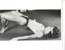Female Bodybuilder 2x Ms Olympia Rachel McLish Bodybuilding Workout Photo B&W