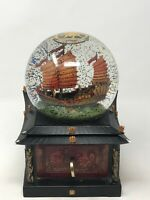 Disney Store Pirates of the Caribbean at Worlds End Snow Globe with Key & Lights