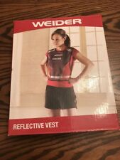 NEW Weider Reflective Vest Unisex  Mesh Reflective Stripes Hook Loop Adjustable