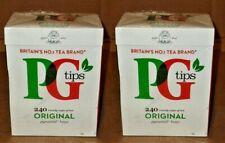 2-2020 - 480 Tea Bags PG Tips Original Pyramid Britians No.1 English Black Tea