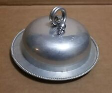 B.W. Buenilum Vintage Hammered Aluminum Serving Plate with Cover Lid