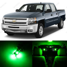 12 x Green LED Interior Light Package For 2007 - 2013 Chevy Silverado + PRY TOOL