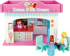 Wooden Playhouse Ice cream Shop with Accessories Role Play Toy Gift