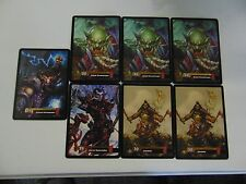 WORLD OF WARCRAFT AZEROTH OVERSIZE CCG 5x7 CARD LOT x7  RARE !!!!!  gm451